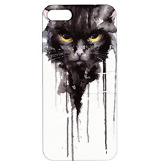 Angry Cat T Shirt Apple Iphone 5 Hardshell Case With Stand by AmeeaDesign