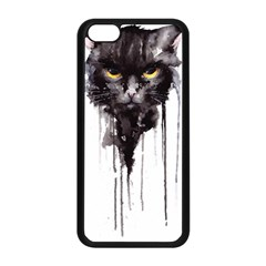 Angry Cat T Shirt Apple Iphone 5c Seamless Case (black) by AmeeaDesign