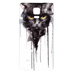 Angry Cat T Shirt Galaxy Note 4 Back Case by AmeeaDesign