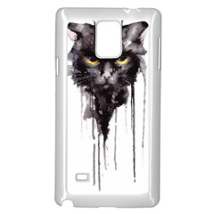 Angry Cat T Shirt Samsung Galaxy Note 4 Case (white) by AmeeaDesign