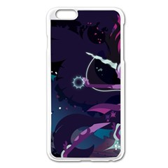 Midnight Sparkle Stream Wall  Apple Iphone 6 Plus/6s Plus Enamel White Case by amphoto