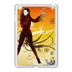 Girl Autumn Grass  Apple Ipad Mini Case (white) by amphoto