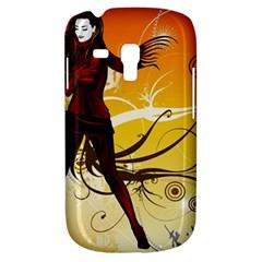 Girl Autumn Grass  Galaxy S3 Mini by amphoto