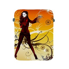 Girl Autumn Grass  Apple Ipad 2/3/4 Protective Soft Cases by amphoto