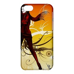 Girl Autumn Grass  Apple Iphone 5c Hardshell Case by amphoto