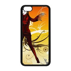 Girl Autumn Grass  Apple Iphone 5c Seamless Case (black) by amphoto