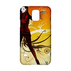 Girl Autumn Grass  Samsung Galaxy S5 Hardshell Case  by amphoto