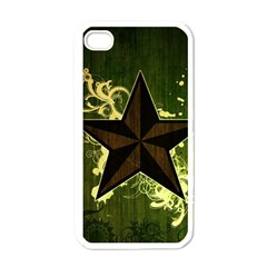 Star Dark Pattern  Apple Iphone 4 Case (white) by amphoto