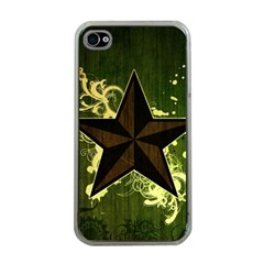 Star Dark Pattern  Apple Iphone 4 Case (clear) by amphoto