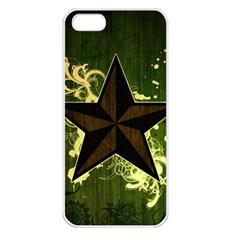 Star Dark Pattern  Apple Iphone 5 Seamless Case (white) by amphoto