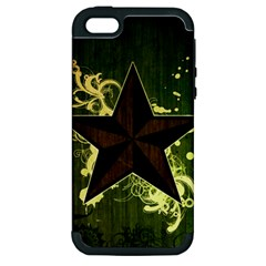 Star Dark Pattern  Apple Iphone 5 Hardshell Case (pc+silicone) by amphoto