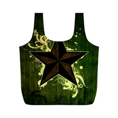 Star Dark Pattern  Full Print Recycle Bags (m)  by amphoto