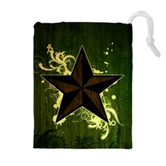 Star Dark Pattern  Drawstring Pouches (extra Large) by amphoto