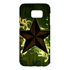 Star Dark Pattern  Samsung Galaxy S7 Edge Hardshell Case by amphoto
