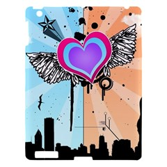 Couple Hugging Heart Apple Ipad 3/4 Hardshell Case by amphoto