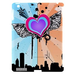 Couple Hugging Heart Apple Ipad 3/4 Hardshell Case (compatible With Smart Cover) by amphoto