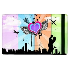 Couple Hugging Heart Apple Ipad 2 Flip Case by amphoto