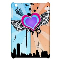 Couple Hugging Heart Apple Ipad Mini Hardshell Case by amphoto