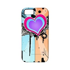 Couple Hugging Heart Apple Iphone 5 Classic Hardshell Case (pc+silicone) by amphoto