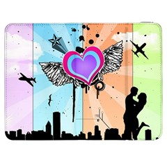 Couple Hugging Heart Samsung Galaxy Tab 7  P1000 Flip Case by amphoto