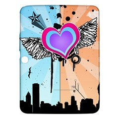 Couple Hugging Heart Samsung Galaxy Tab 3 (10 1 ) P5200 Hardshell Case  by amphoto