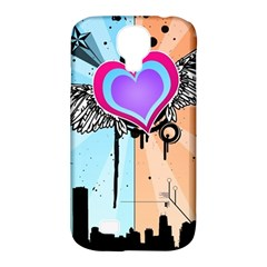 Couple Hugging Heart Samsung Galaxy S4 Classic Hardshell Case (pc+silicone) by amphoto