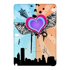 Couple Hugging Heart Samsung Galaxy Tab Pro 12 2 Hardshell Case by amphoto