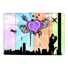 Couple Hugging Heart Samsung Galaxy Tab Pro 10 1  Flip Case by amphoto