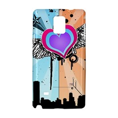 Couple Hugging Heart Samsung Galaxy Note 4 Hardshell Case by amphoto