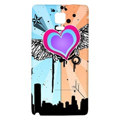 Couple Hugging Heart Galaxy Note 4 Back Case by amphoto