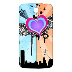 Couple Hugging Heart Samsung Galaxy Mega I9200 Hardshell Back Case by amphoto