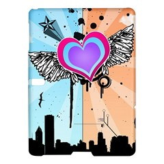Couple Hugging Heart Samsung Galaxy Tab S (10 5 ) Hardshell Case  by amphoto