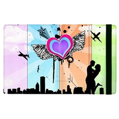 Couple Hugging Heart Apple Ipad Pro 12 9   Flip Case by amphoto