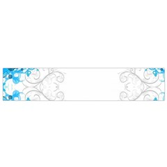 Patterns Blue White  Flano Scarf (small) by amphoto