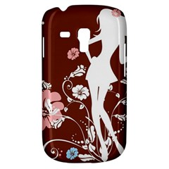 Girl Flowers Silhouette  Galaxy S3 Mini by amphoto