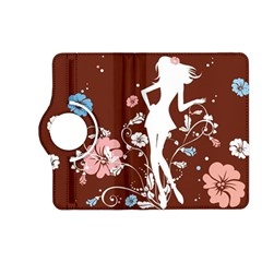 Girl Flowers Silhouette  Kindle Fire Hd (2013) Flip 360 Case by amphoto