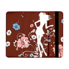 Girl Flowers Silhouette  Samsung Galaxy Tab Pro 8 4  Flip Case by amphoto