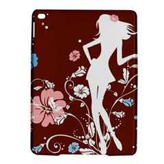 Girl Flowers Silhouette  Ipad Air 2 Hardshell Cases by amphoto