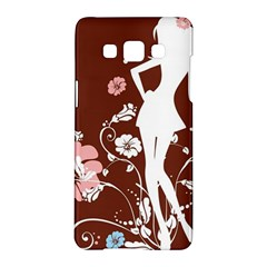 Girl Flowers Silhouette  Samsung Galaxy A5 Hardshell Case  by amphoto