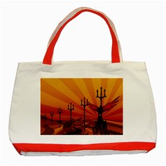 Wings Drawing Poles  Classic Tote Bag (red) by amphoto