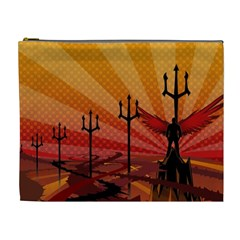 Wings Drawing Poles  Cosmetic Bag (xl) by amphoto