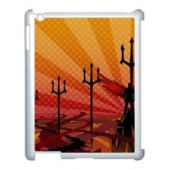 Wings Drawing Poles  Apple Ipad 3/4 Case (white) by amphoto