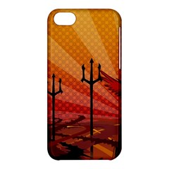 Wings Drawing Poles  Apple Iphone 5c Hardshell Case by amphoto