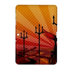 Wings Drawing Poles  Samsung Galaxy Tab 2 (10 1 ) P5100 Hardshell Case  by amphoto