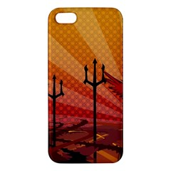 Wings Drawing Poles  Iphone 5s/ Se Premium Hardshell Case by amphoto