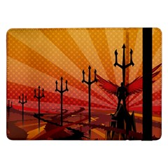 Wings Drawing Poles  Samsung Galaxy Tab Pro 12 2  Flip Case by amphoto