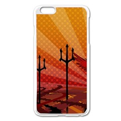 Wings Drawing Poles  Apple Iphone 6 Plus/6s Plus Enamel White Case by amphoto