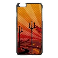 Wings Drawing Poles  Apple Iphone 6 Plus/6s Plus Black Enamel Case by amphoto