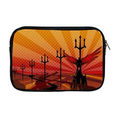 Wings Drawing Poles  Apple Macbook Pro 17  Zipper Case by amphoto