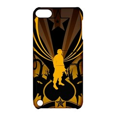 Soldiers Army Line  Apple Ipod Touch 5 Hardshell Case With Stand by amphoto
